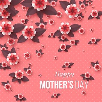 Kartkę z życzeniami szczęśliwego dnia matki.