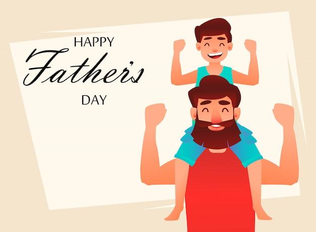 Kartkę z życzeniami szczęśliwego dnia ojca