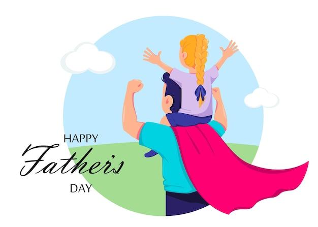 Kartkę z życzeniami szczęśliwego dnia ojców