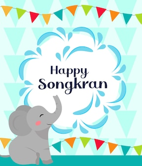 Kartkę z życzeniami szczęśliwego festiwalu songkran