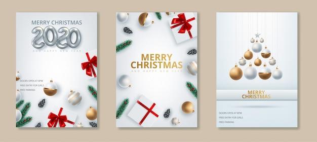 Kartkę z życzeniami szczęśliwego nowego roku 2020 i wesołych świąt.