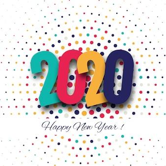 Kartkę z życzeniami szczęśliwego nowego roku 2020 wakacje zimowe