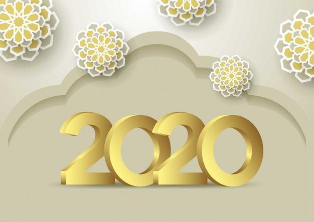 Kartkę z życzeniami szczęśliwego nowego roku 2020