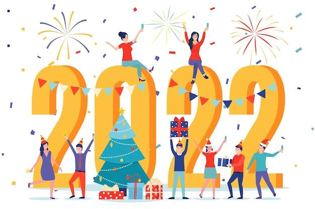 Kartkę z życzeniami szczęśliwego nowego roku 2022.