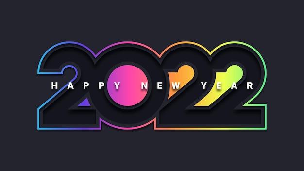 Kartkę z życzeniami szczęśliwego nowego roku 2022