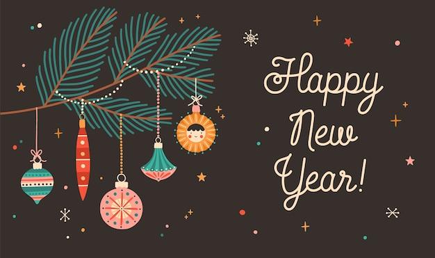 Kartkę z życzeniami szczęśliwego nowego roku