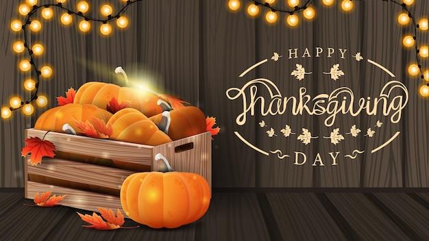 Kartkę z życzeniami szczęśliwego święta dziękczynienia