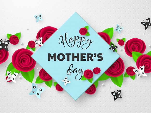 Kartkę z życzeniami szczęśliwy dzień matki.