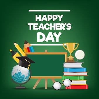 Kartkę z życzeniami szczęśliwy dzień nauczyciela