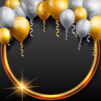 Kartkę z życzeniami urodzinowymi z balonami