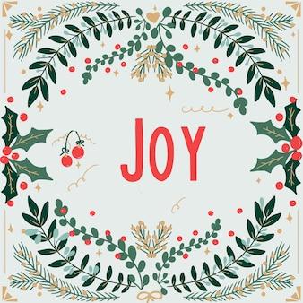 Kartkę z życzeniami wesołych świąt i szczęśliwego nowego roku