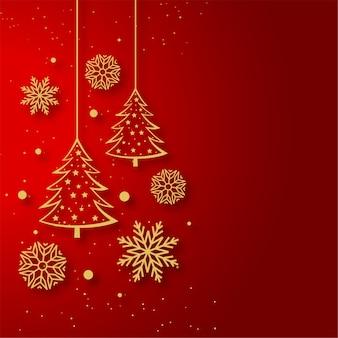 Kartkę z życzeniami wesołych świąt z elementami dekoracyjnymi