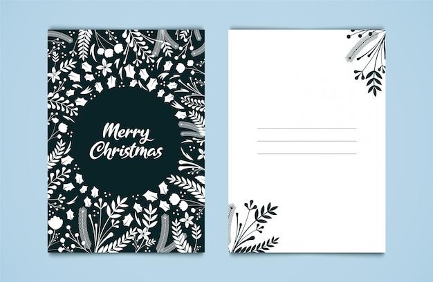 Kartkę z życzeniami wesołych świąt.