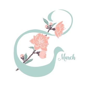 Kartkę z życzeniami z 8 marca