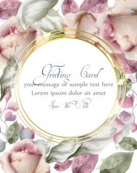 Kartkę z życzeniami z akwarela kwiaty tła