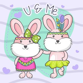 Kartkę z życzeniami z cute kreskówek.