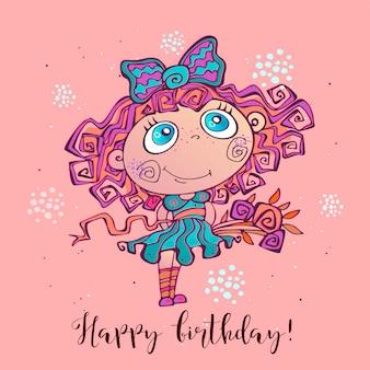 Kartkę z życzeniami z dziewczyną na wszystkiego najlepszego