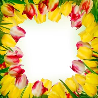 Kartkę z życzeniami z kolorowym kwiatem.