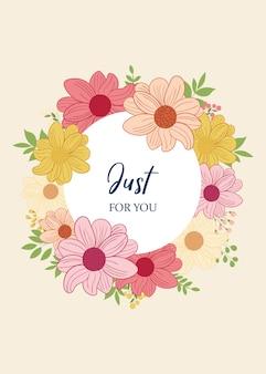 Kartkę z życzeniami z kwiatami w stylu vintage.