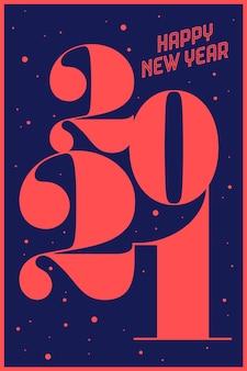 Kartkę z życzeniami z napisem szczęśliwego nowego roku.