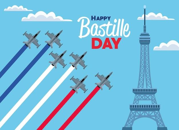 Kartkę z życzeniami z okazji dnia bastylii