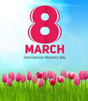 Kartkę z życzeniami z okazji dnia kobiet 8 marca