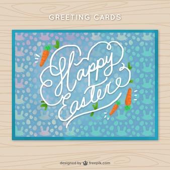 Kartkę z życzeniami z ozdobnymi marchwi na dzień wielkanocy