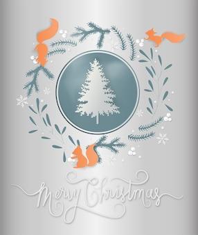 Kartkę z życzeniami z sezonu zimowego