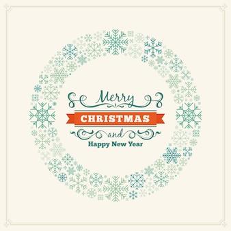 Kartki świąteczne pozdrowienia z płatki śniegu
