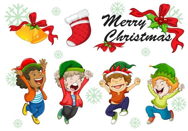 Kartki świąteczne szablon taniec dzieci