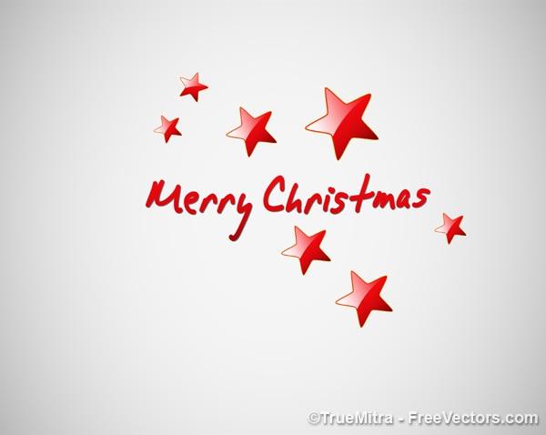 Kartki świąteczne z czerwonymi gwiazdami