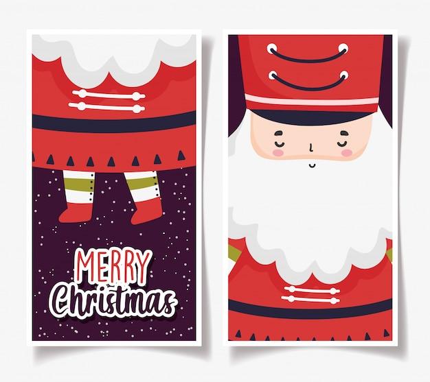 Kartki świąteczne z mikołajem