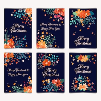 Kartki z życzeniami wesołych świąt i szczęśliwego nowego roku
