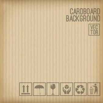 Karton tle zestaw kartonowym symbolem