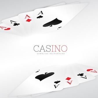 Karty do gry wzór tła