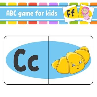 Karty flash abc alfabet dla dzieci nauka liter