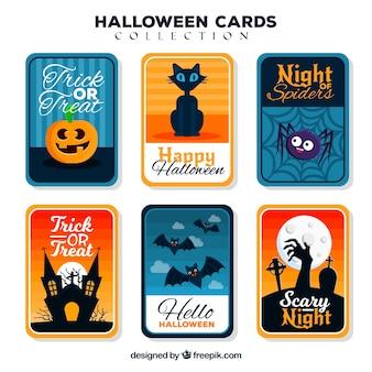 Karty halloween wtih zabawny styl