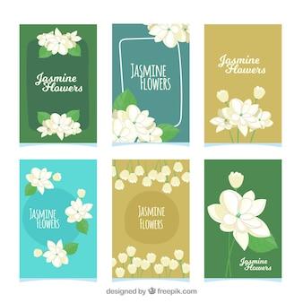 Karty jasmine z stylem zabawy