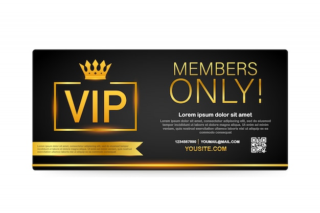 Karty klubu vip, złota wstążka tylko dla członków
