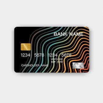 Karty kredytowe. z inspiracją z abstrakcji.