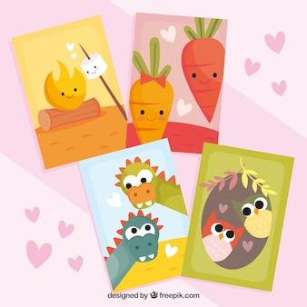 Karty miłości słodkie pary