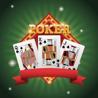 Karty pokera wewnątrz ramki ikona