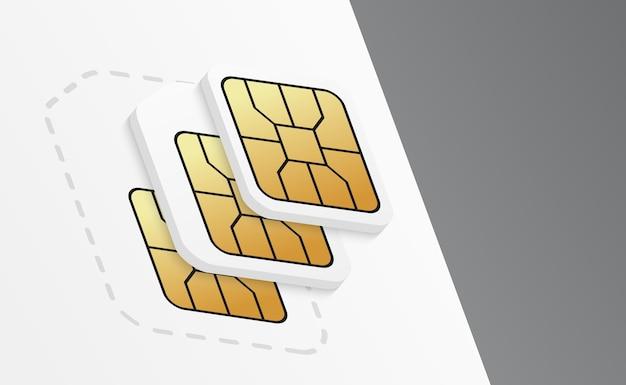Karty sim do telefonów komórkowych.