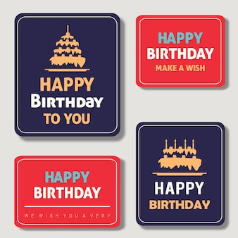 Karty urodzinowe wzór wektor