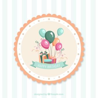 Karty urodziny wektor cartoon