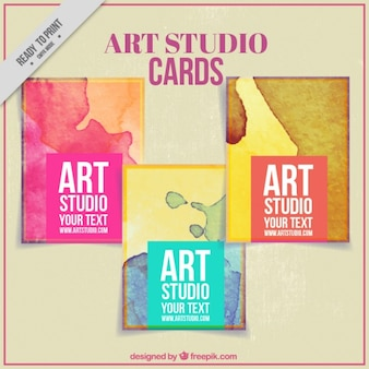 Karty z plam farby dla sztuki studio