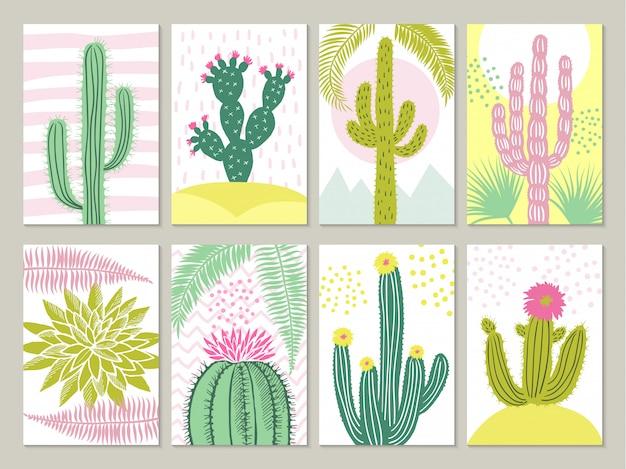 Karty ze zdjęciami kaktusów