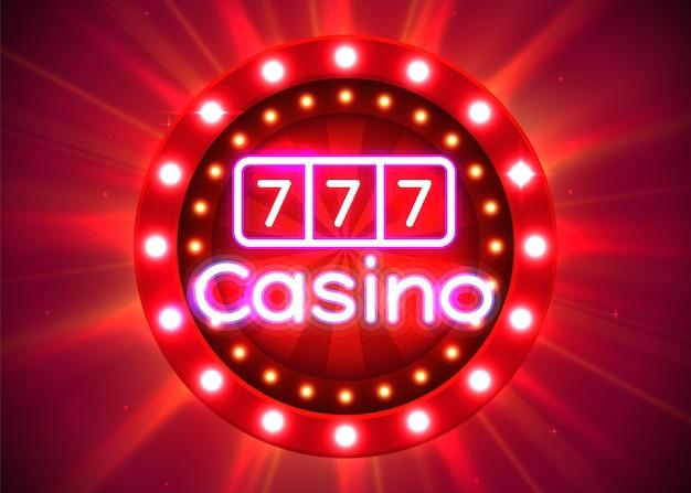 Kasyno luksusowy baner koncepcja kasyna z dużą wygraną
