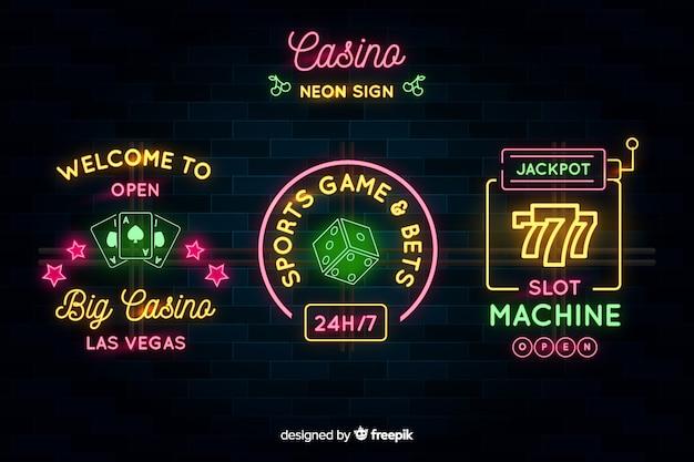 Kasyno neon znak collectio