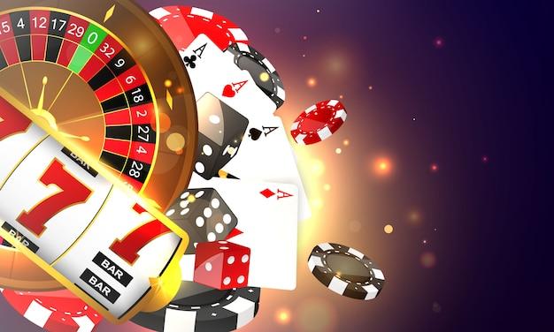 Kasyno online. smartfon lub telefon komórkowy, automat do gry, żetony kasyna latające realistyczne tokeny do hazardu, gotówka do ruletki lub pokera,